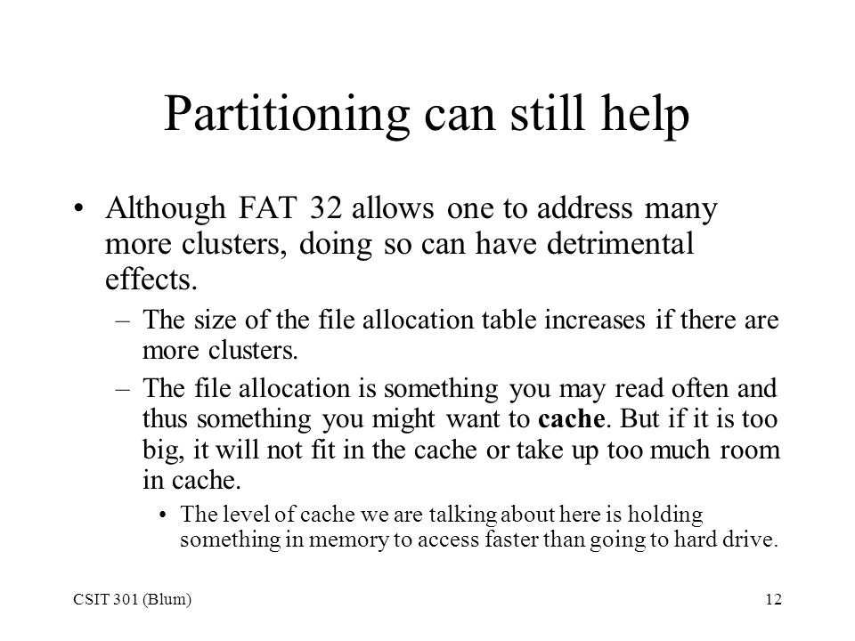 Partitioning can still help