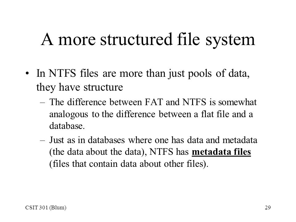 A more structured file system