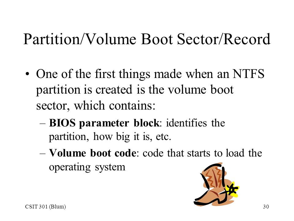 Partition/Volume Boot Sector/Record