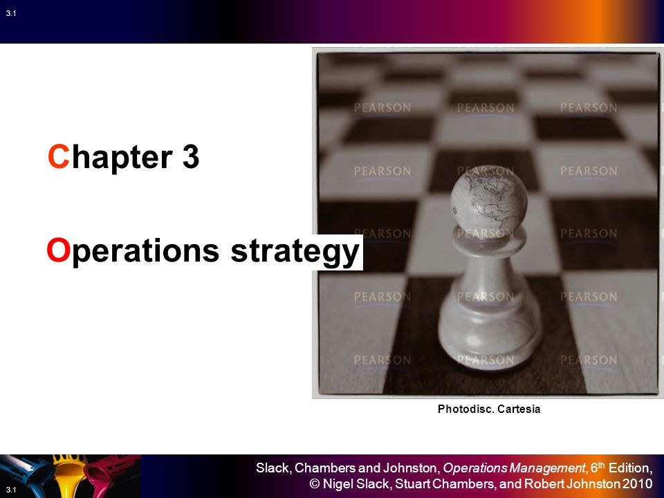 Chapter 3 Operations strategy Photodisc. Cartesia