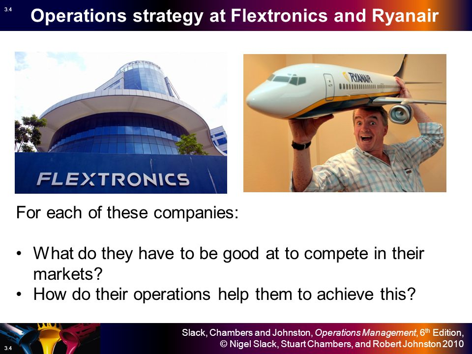 Operations strategy at Flextronics and Ryanair