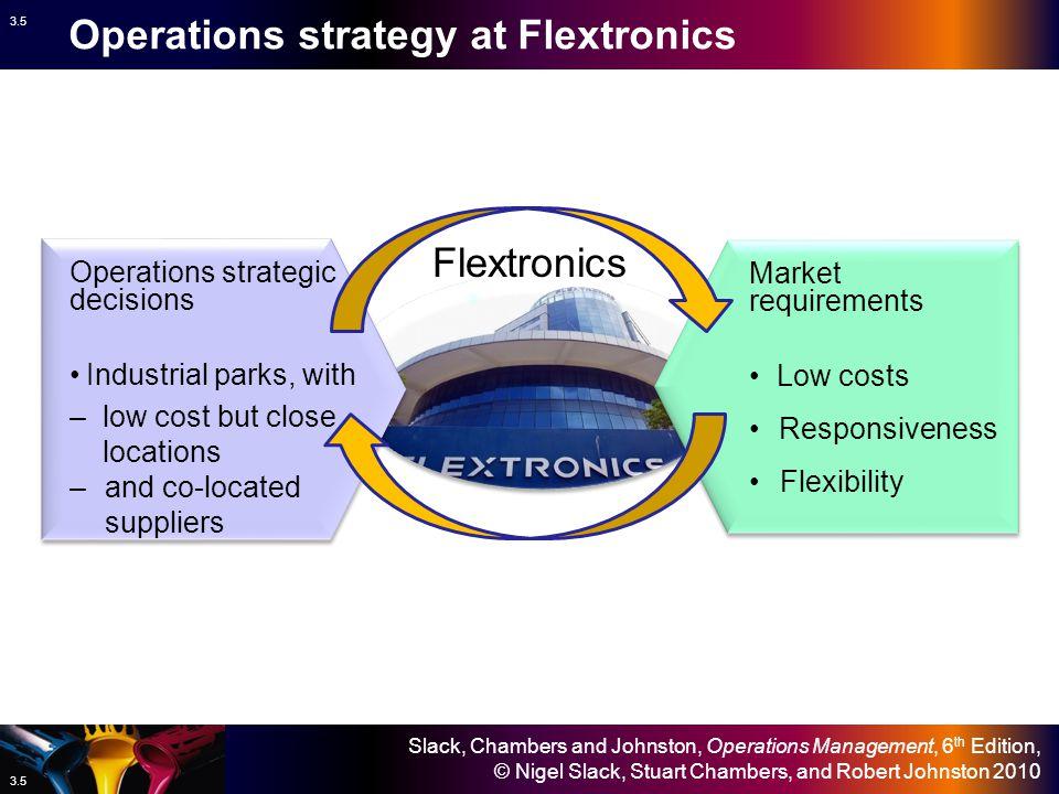 Operations strategy at Flextronics