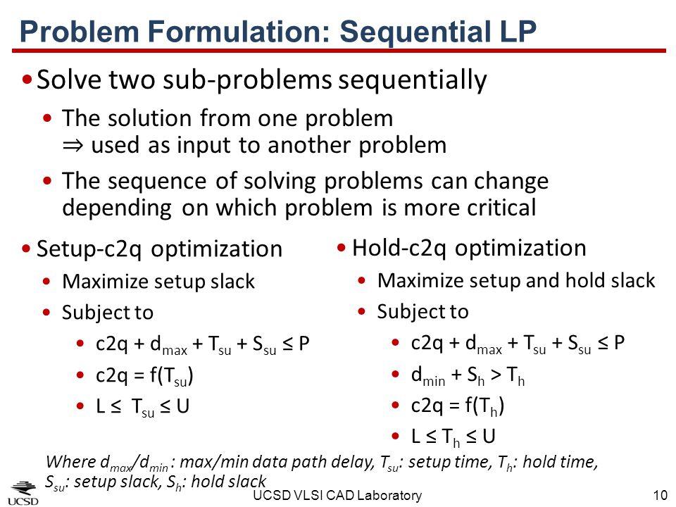 Problem Formulation: Sequential LP