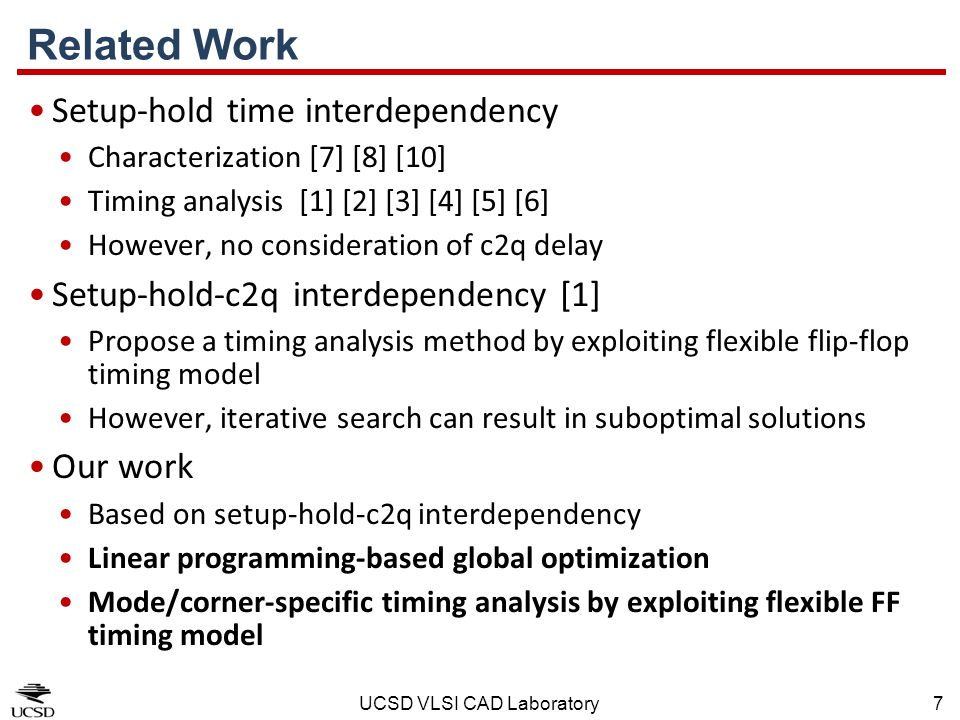 Related Work Setup-hold time interdependency