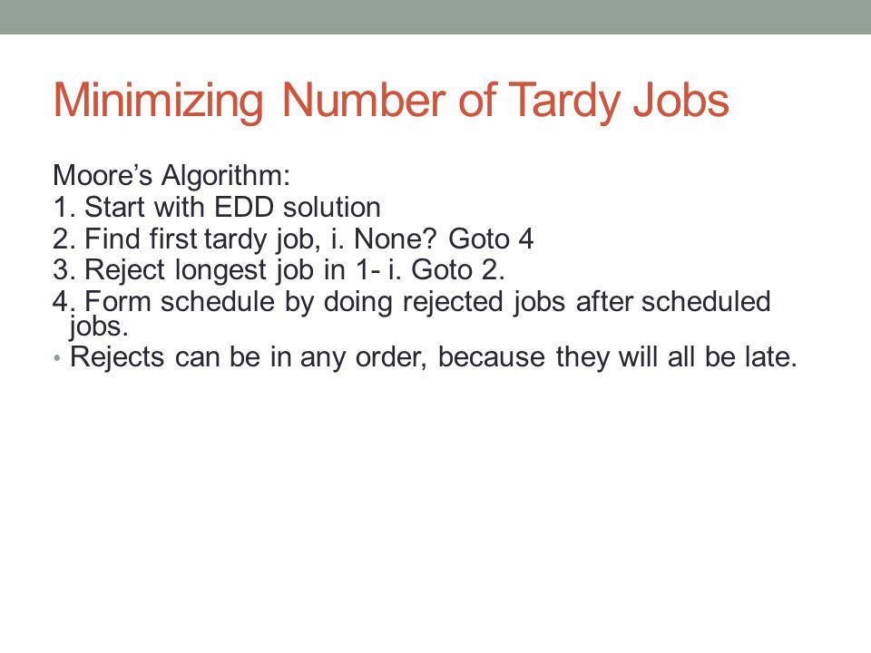 Minimizing Number of Tardy Jobs