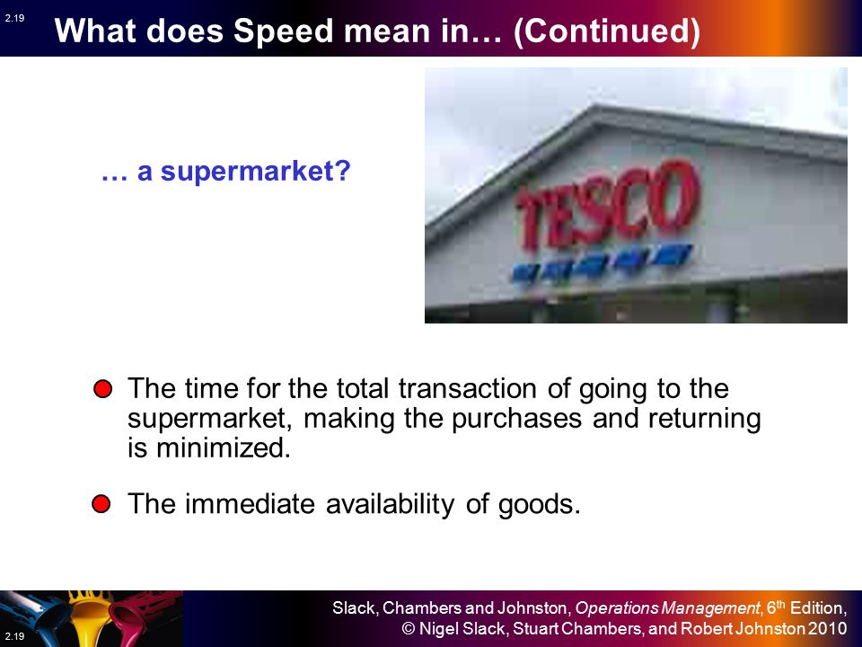 What does Speed mean in… (Continued)