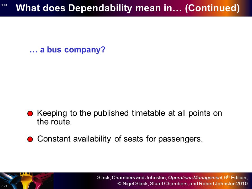 What does Dependability mean in… (Continued)
