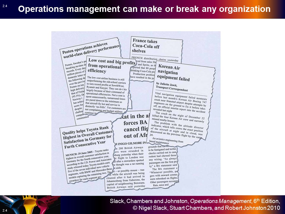 Operations management can make or break any organization