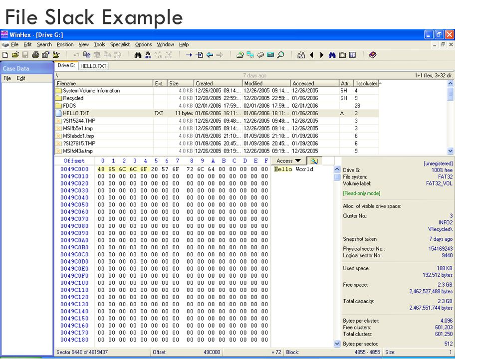 File Slack Example
