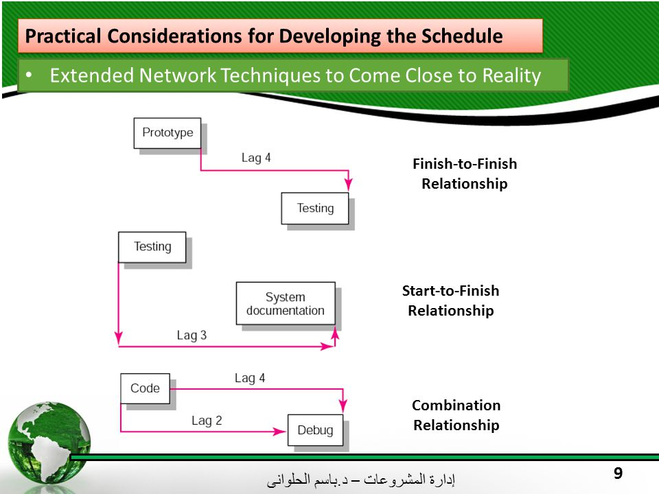 Practical Considerations for Developing the Schedule