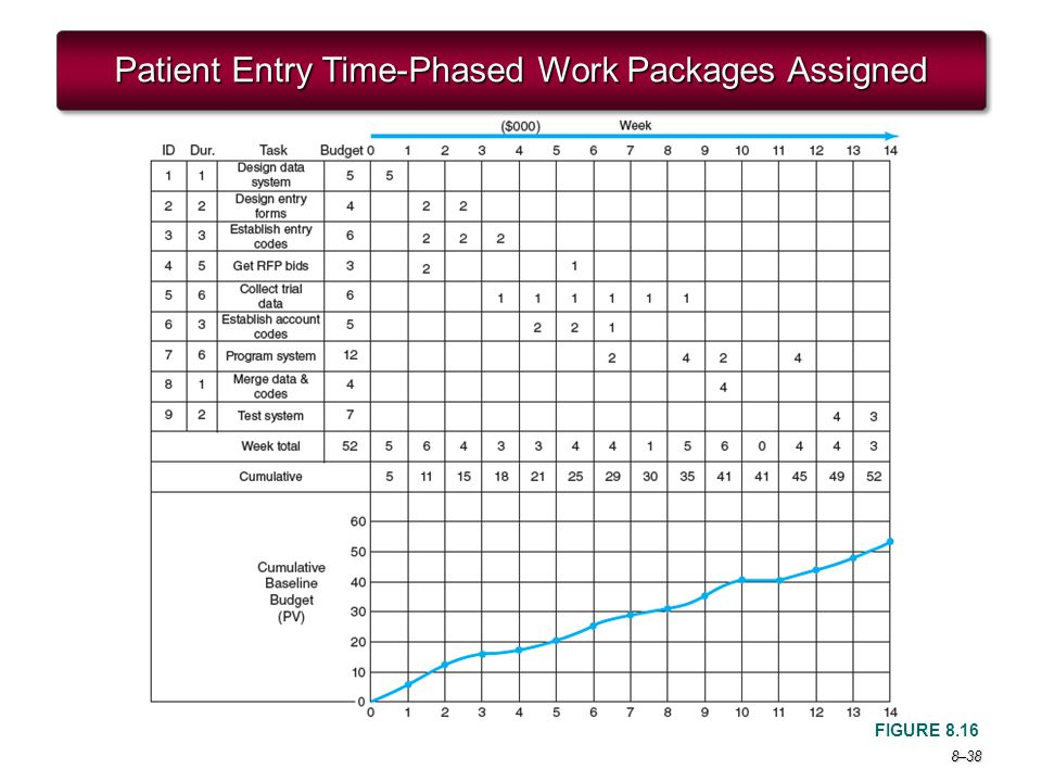 Patient Entry Time-Phased Work Packages Assigned
