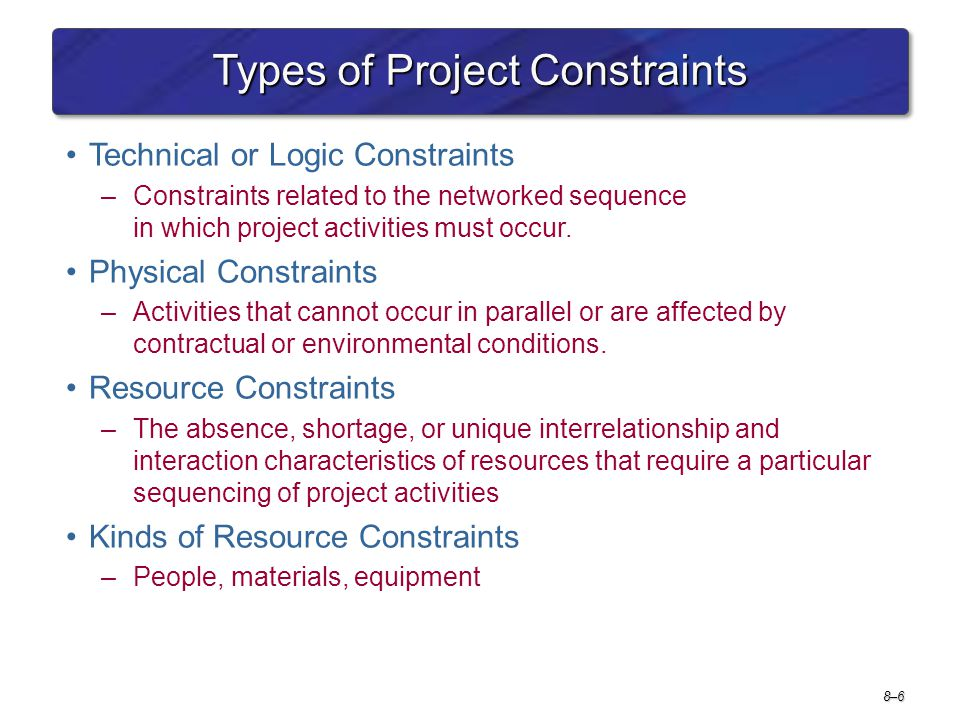Types of Project Constraints