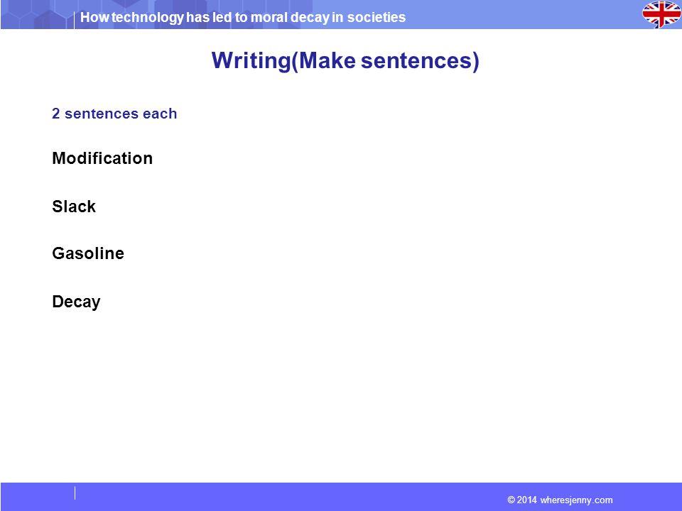 Writing(Make sentences)