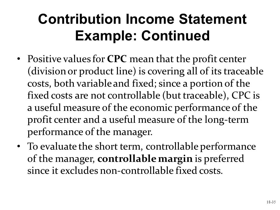 Chapter Eighteen Strategic Performance Measurement Cost Centers