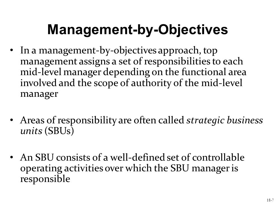 Management-by-Objectives