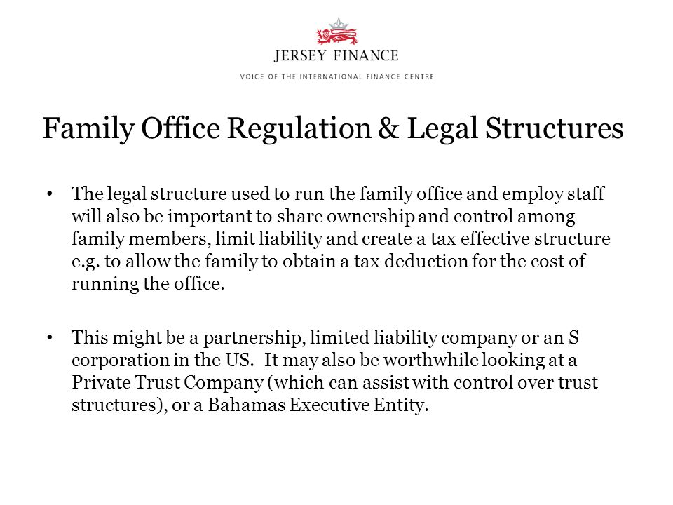 Family Office Regulation & Legal Structures