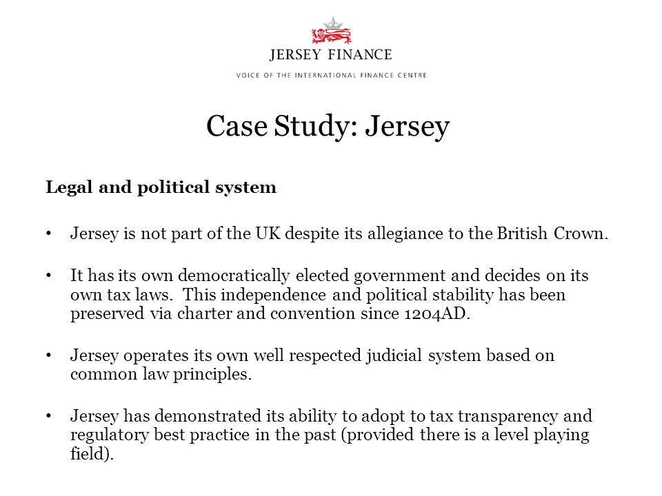 Case Study: Jersey Legal and political system
