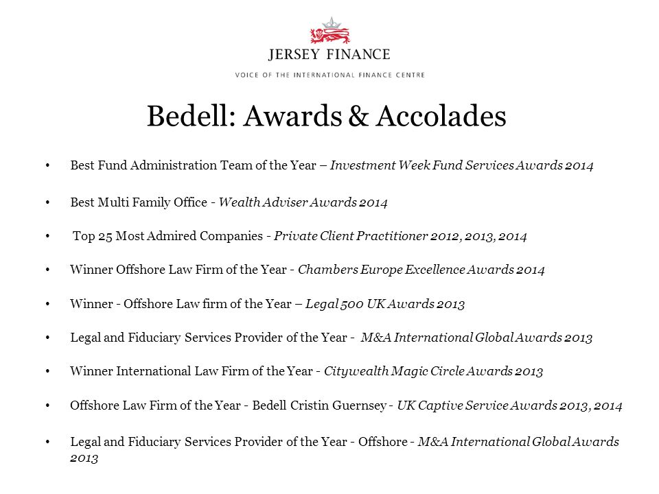 Bedell: Awards & Accolades