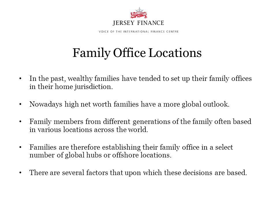 Family Office Locations