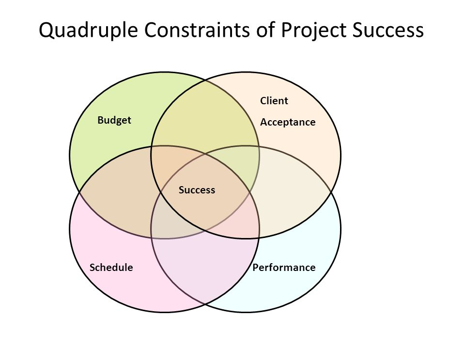 Quadruple Constraints of Project Success