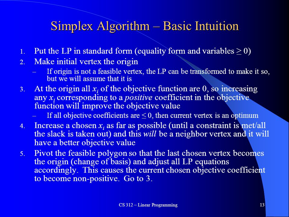 Simplex Algorithm – Basic Intuition