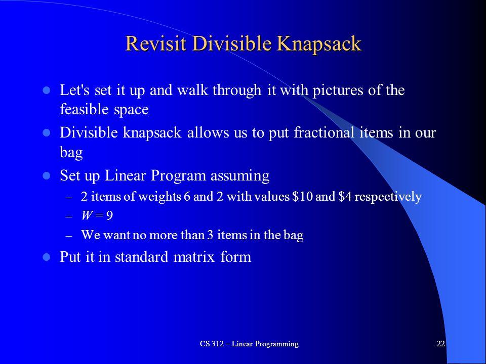 Revisit Divisible Knapsack