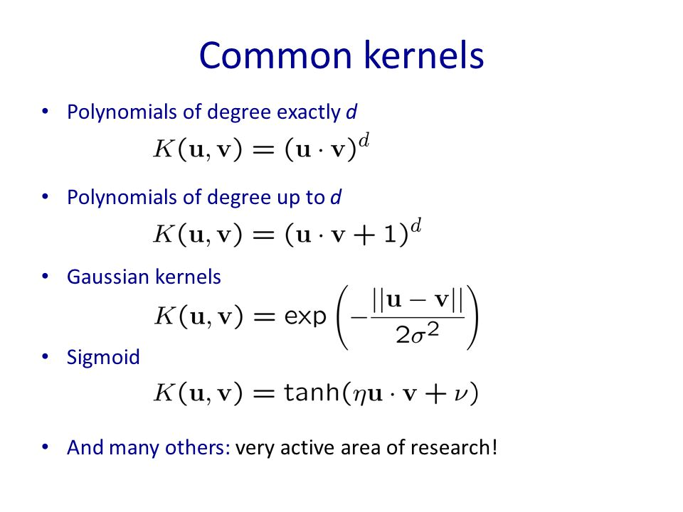 Common kernels Polynomials of degree exactly d