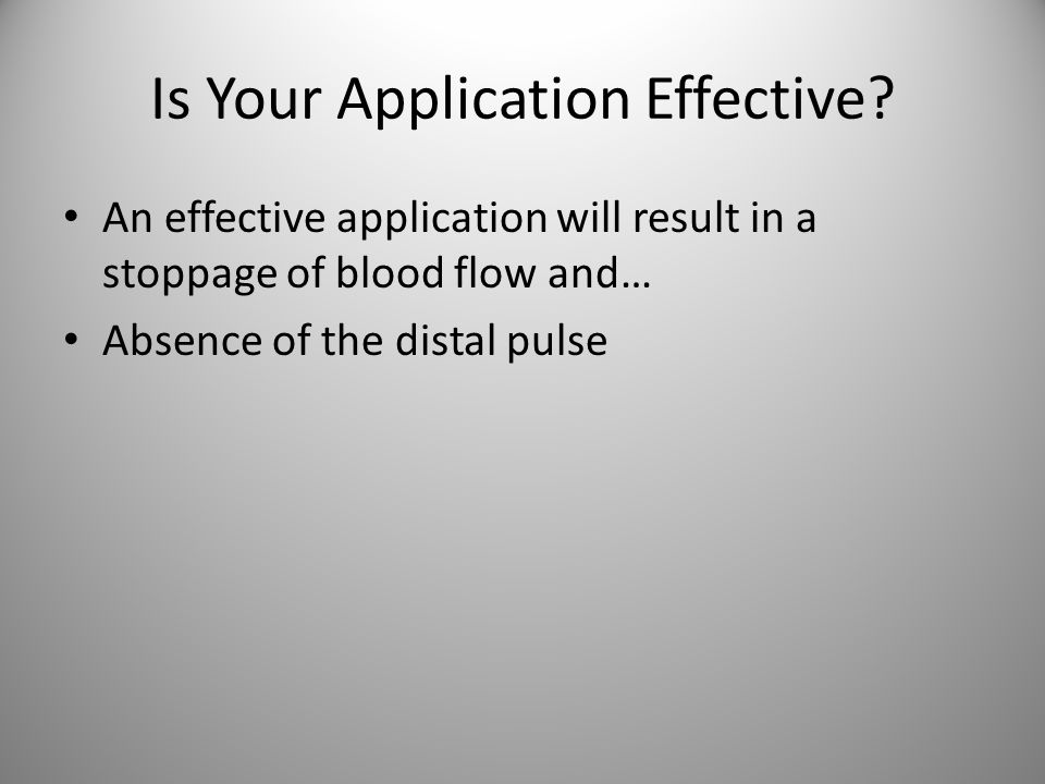 Is Your Application Effective