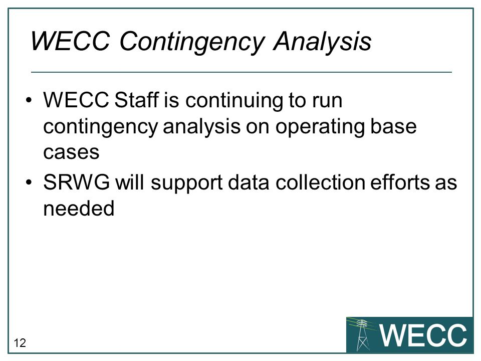 WECC Contingency Analysis