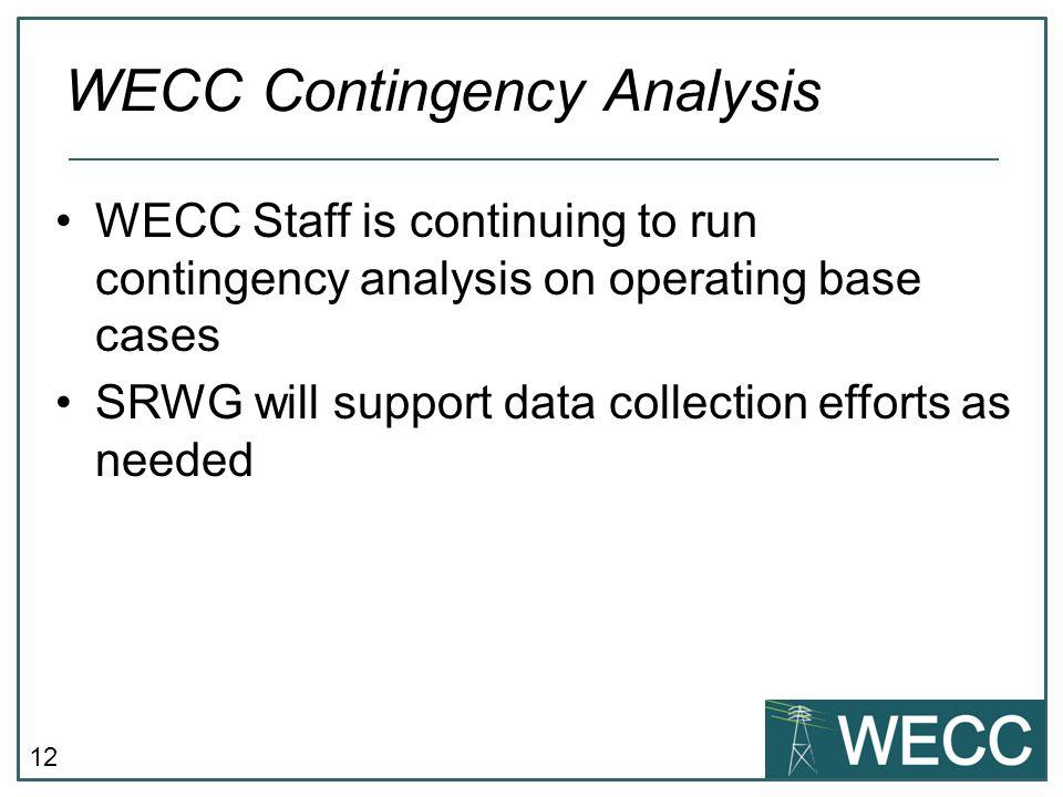 WECC Contingency Analysis