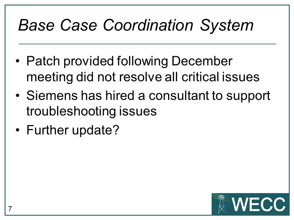 Base Case Coordination System