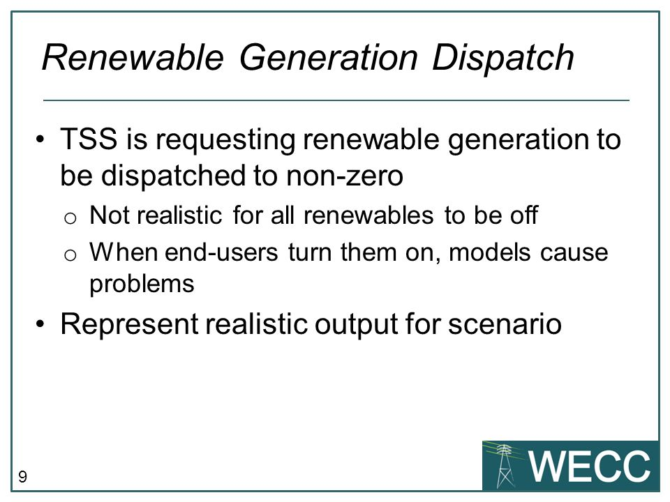 Renewable Generation Dispatch