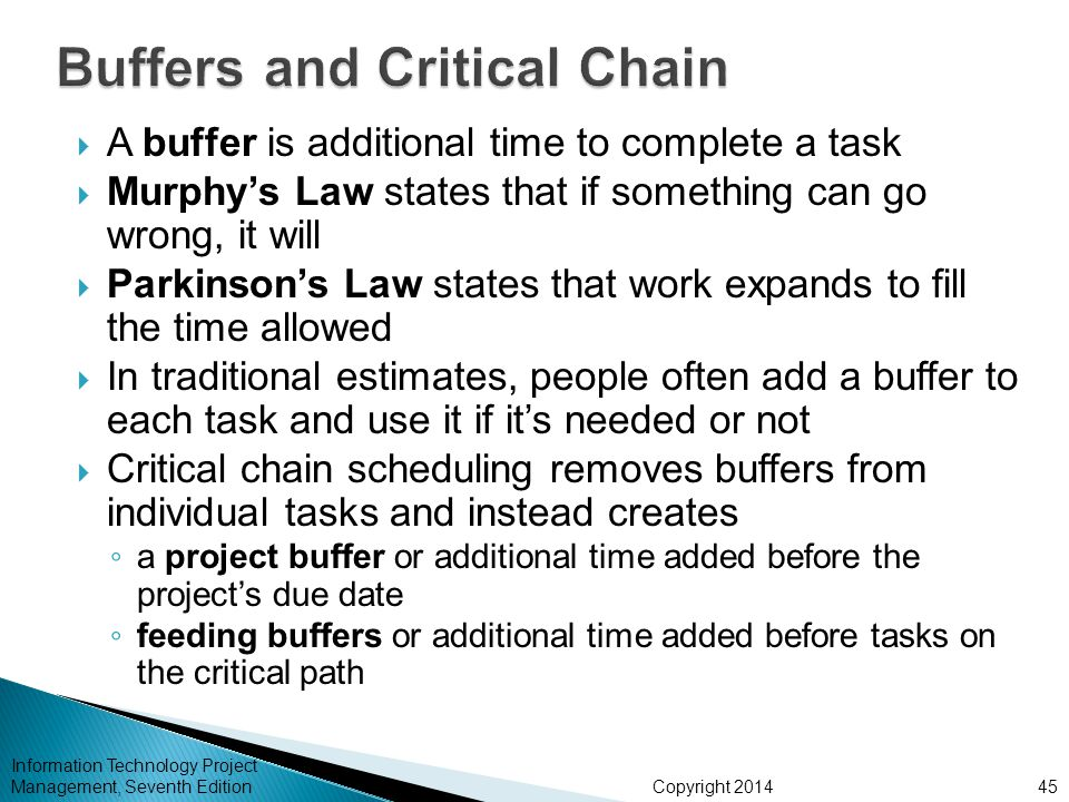 Buffers and Critical Chain