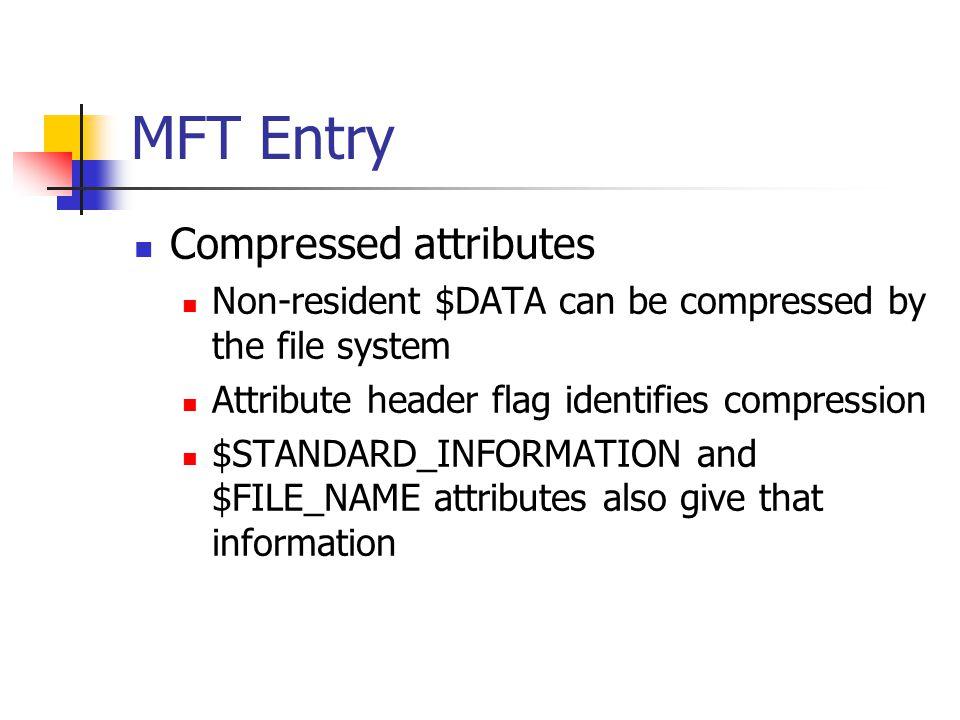 MFT Entry Compressed attributes