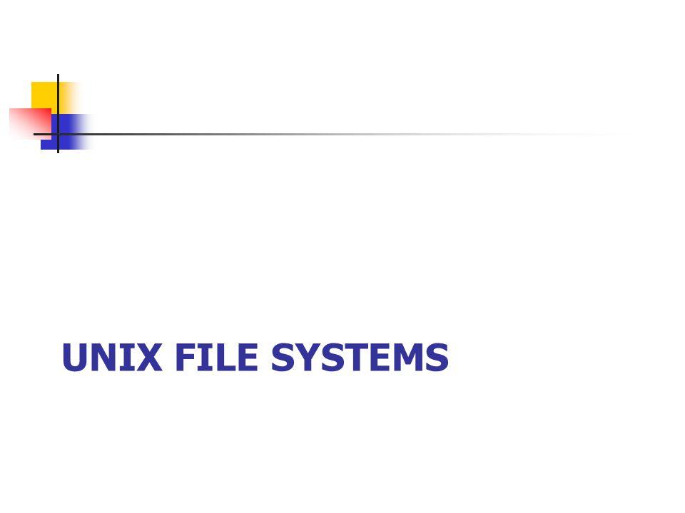 Unix File Systems