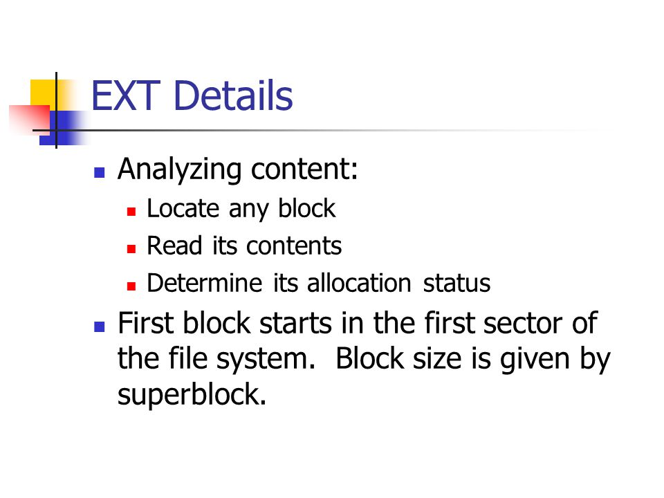 EXT Details Analyzing content: