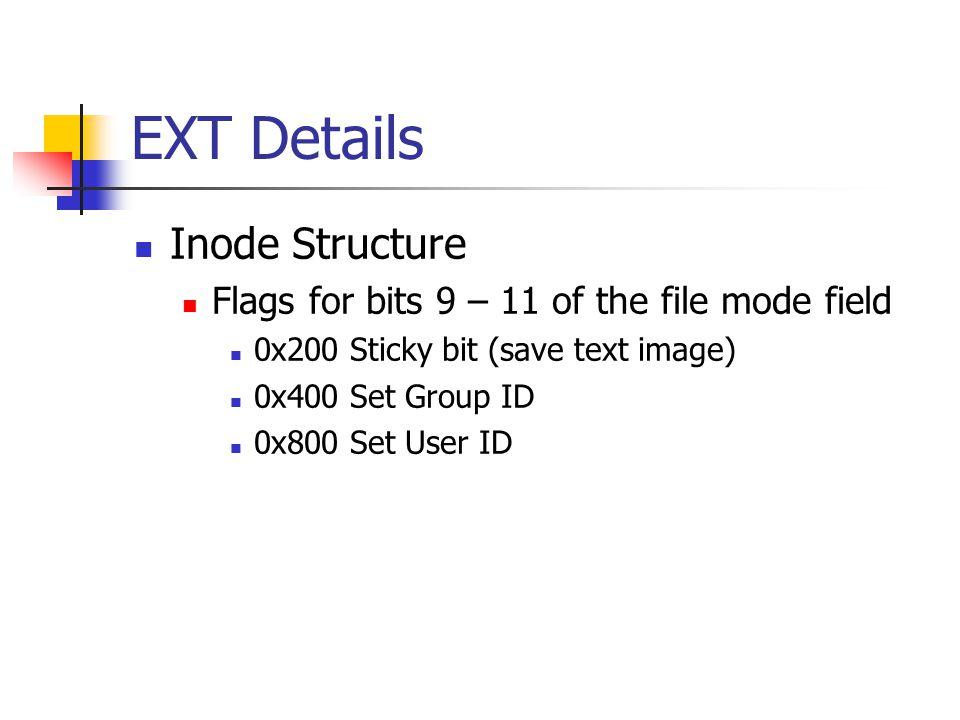 EXT Details Inode Structure
