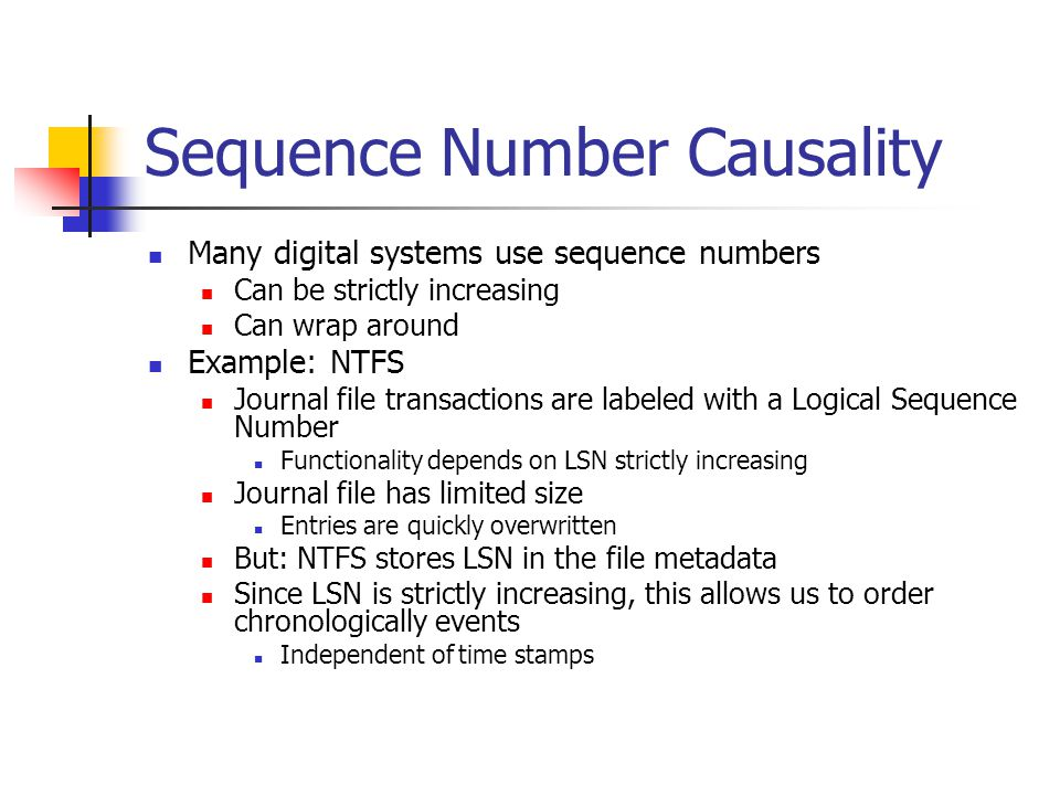 Sequence Number Causality