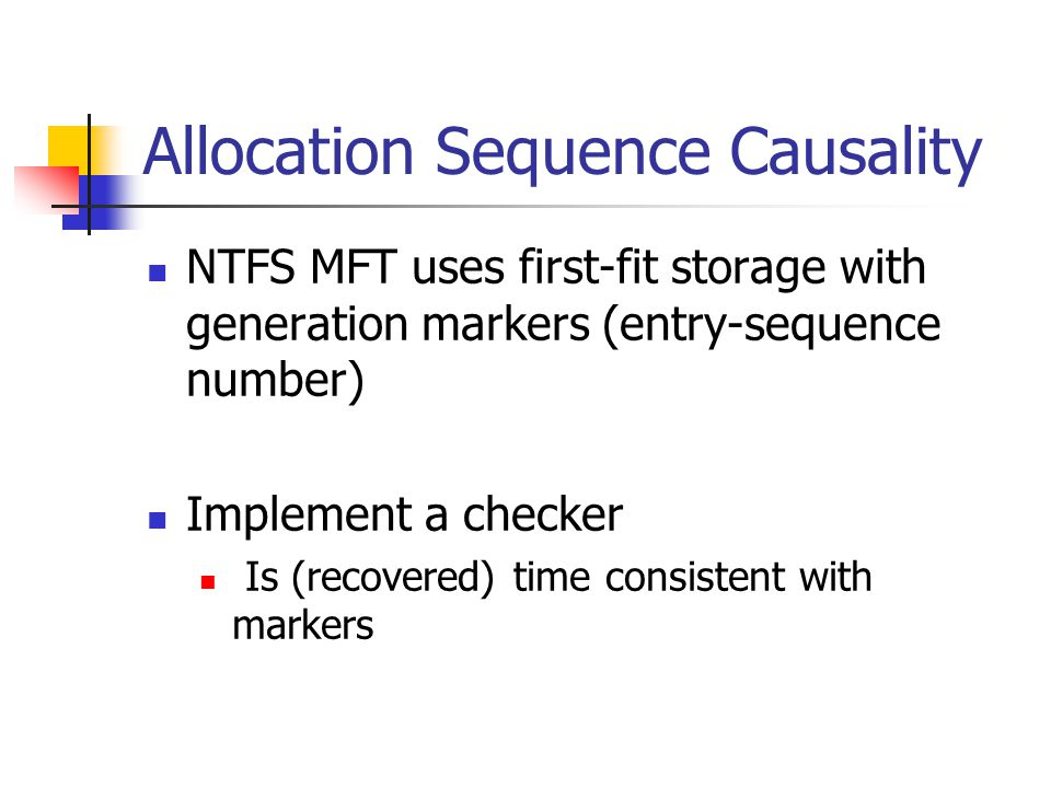 Allocation Sequence Causality