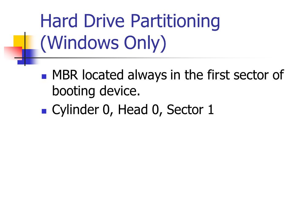 Hard Drive Partitioning (Windows Only)