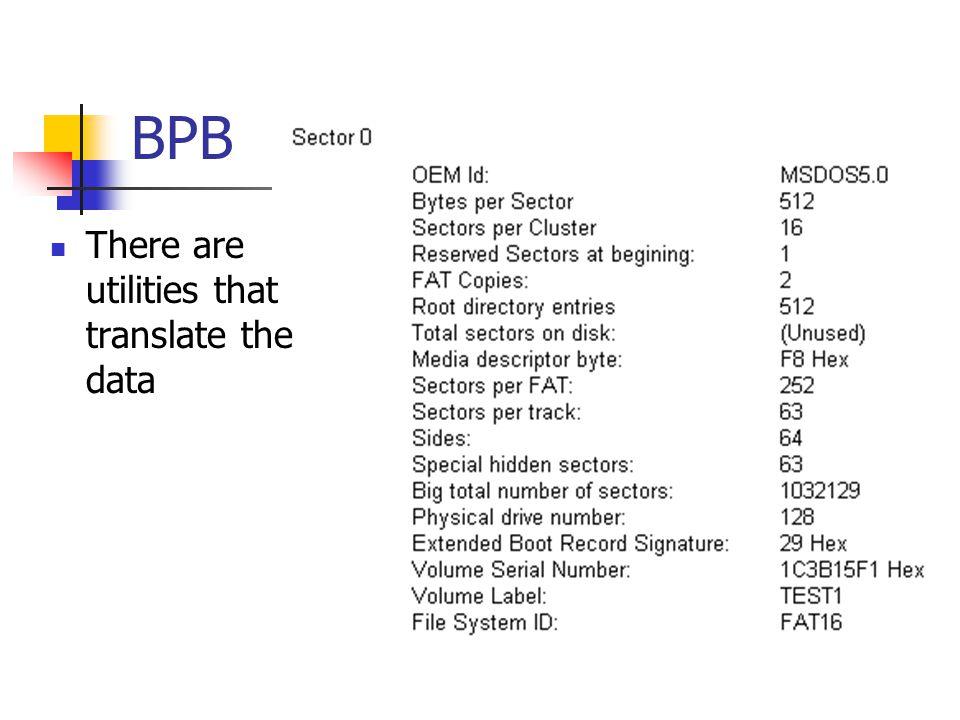 BPB There are utilities that translate the data