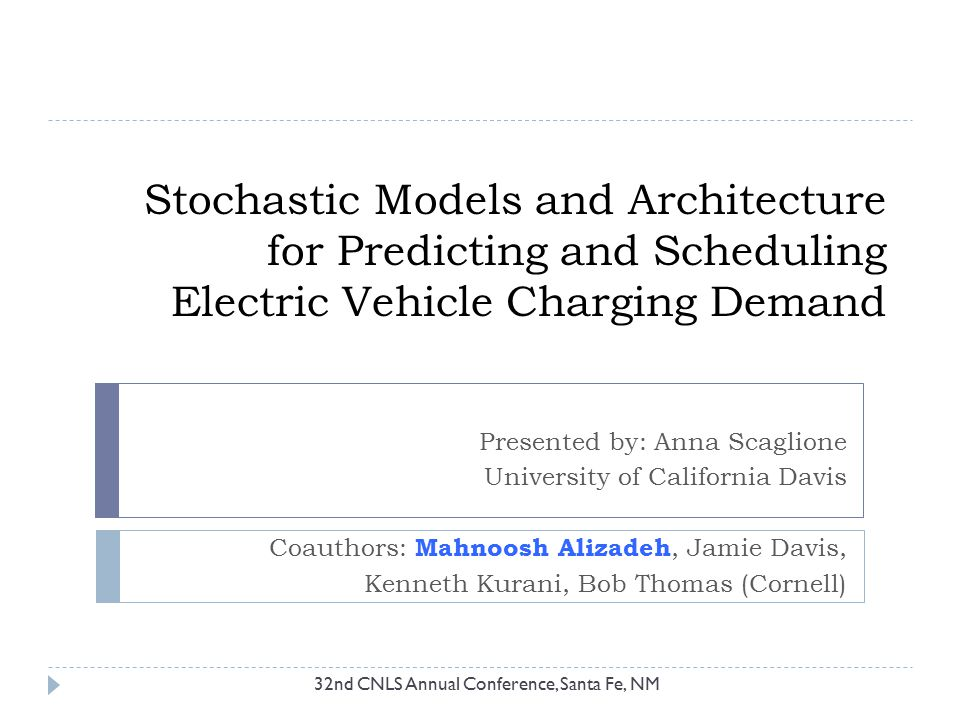 Stochastic Models and Architecture for Predicting and Scheduling Electric Vehicle Charging Demand