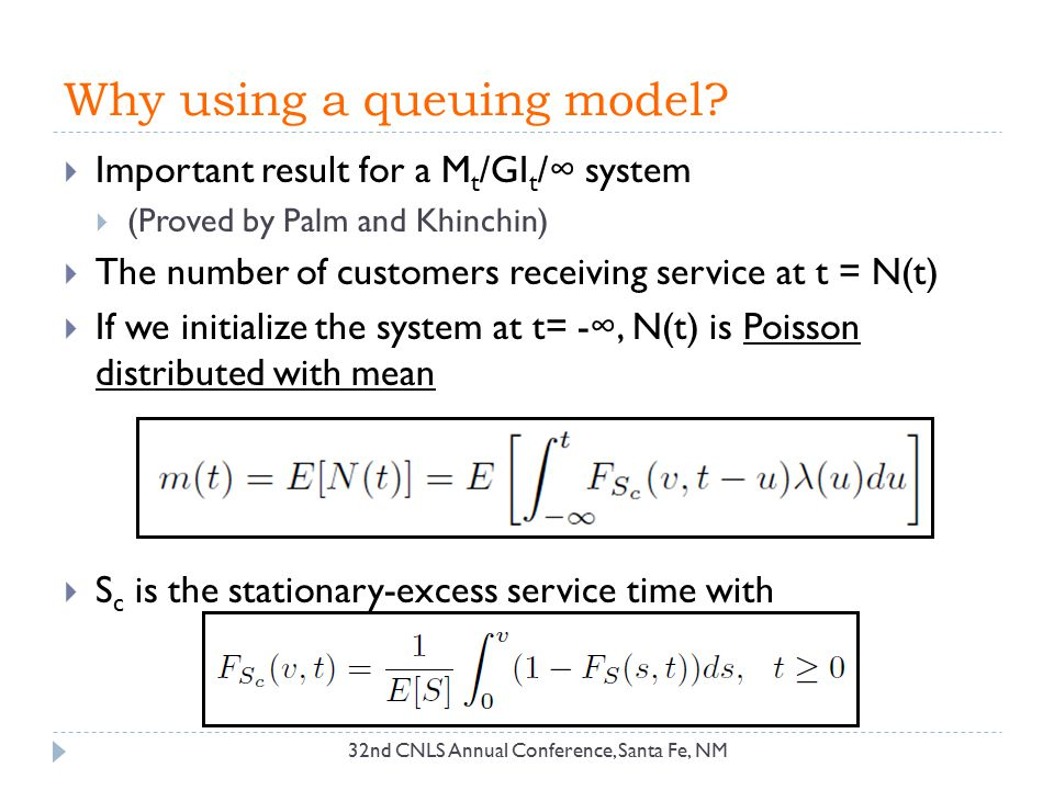 Why using a queuing model