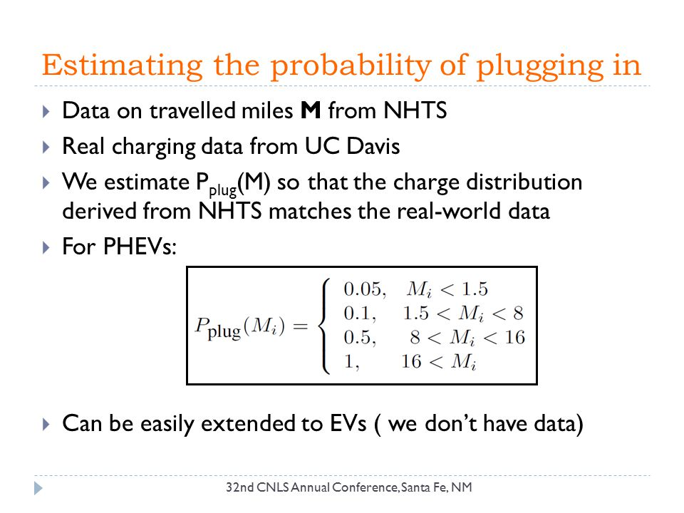 Estimating the probability of plugging in