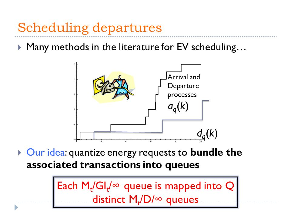Scheduling departures