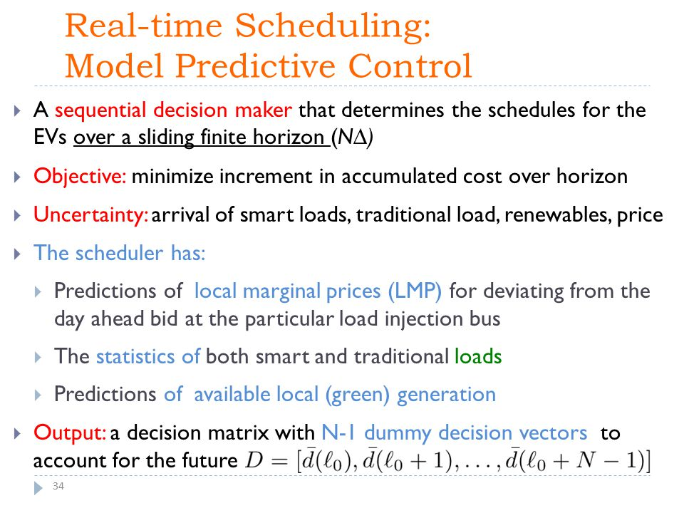 Real-time Scheduling: Model Predictive Control