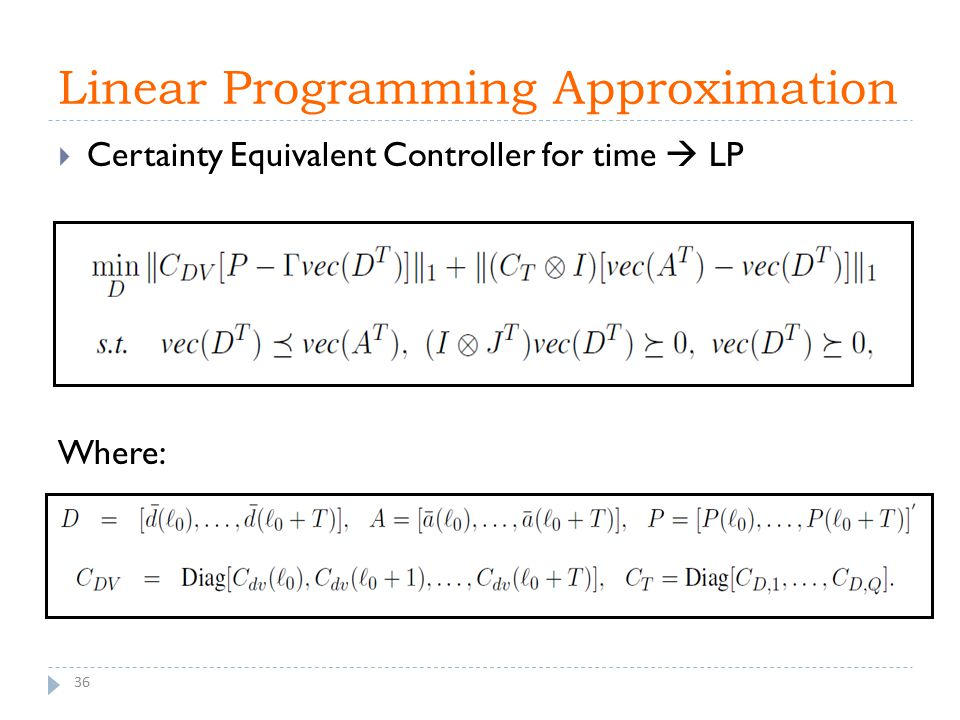 Linear Programming Approximation