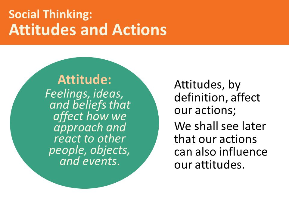 Social Thinking: Attitudes and Actions