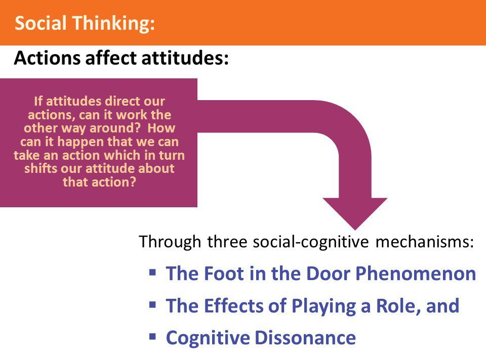 Actions affect attitudes: