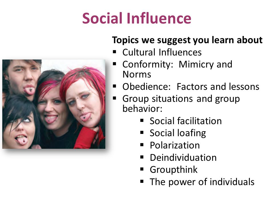 Social Influence Topics we suggest you learn about Cultural Influences